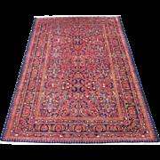 Persian handmade Lilian Small Oriental Carpet circa 1930 , 10.2 x 7