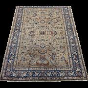 Antique Kerman , lavar Style , Oriental Rug , Carpet , Kerman Province , Southeast Persia circa 1920 , 9 x 6.5