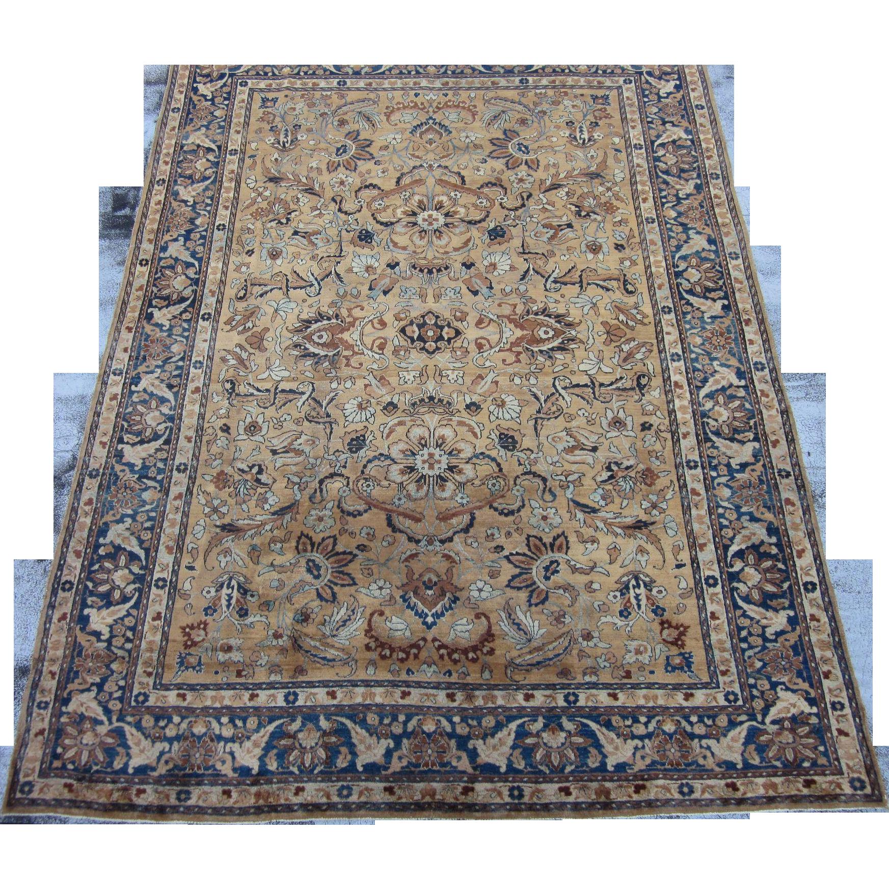 Antique Kerman Lavar Style Oriental Rug Carpet