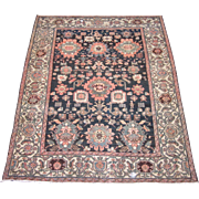 Antique Malayer Oriental Rug , Western Persia , Squarish Format circa 1910 , 6.9 x 5.5