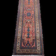 Persian handmade Lilian Runner Rug circa 1920 , Western Persia  16.6 x 2.8