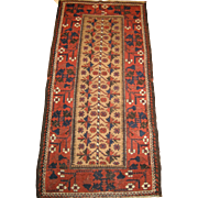 Antique Baluchi Rug , Northeast Persia circa 1900 , 5.4 x 2.7
