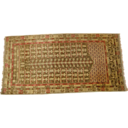 Vintage handmade Turkish rug circa 1930 , 6.2 x 3.2