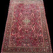 Sarouk Oriental Rug , Arak Province , West Central Persia circa 1920's , 6.4 x 4.2