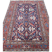 Antique Heriz - Goravan Carpet , Oriental  Rug , NW Persia circa 1900 , 12 x 8.8