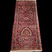 Persian handmade Sarouk runner circa 1920 , 6.7 x 2.7
