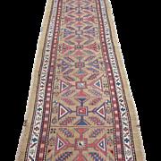 Serab Runner Oriental Rug, Northwest Persia , Azerbaijan Province , Last Quarter 19th Century  11.9 x 3.7