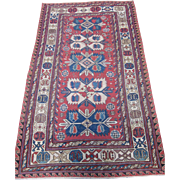 Caucasian Soumac Rug, Probably Karabagh, Southern Caucasus, Late 19th Centuery, 7.8 x 4.6