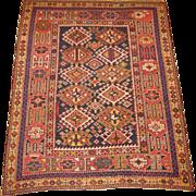 Antique Shirvan  Oriental Rug ,Eastern Caucasus,circa 1900 , 4.4 x 3.7