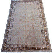Antique Khotan Small Oriental Carpet, Sinjiang Province , Western China , Early 20th Century , 8.5 x 5.5