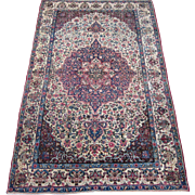 Persian handmade Kerman Oriental Rug circa 1920 , 7.3 x 4.7