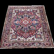 Squarish Persian handmade Heriz circa 1940 , 5.11 x 5.3