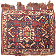 Antique Basseri Saddlebag Face,Khamseh Tribes , 2 x 1.8