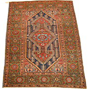 Northwest Persian Rug circa 1920 , 6.4 x 4.9