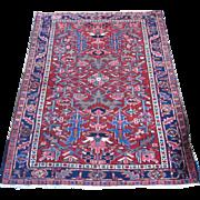 Persian handmade Karadja Oriental Rug , Northwest Persia  ,circa 1920 , 4.6 x 3.6