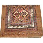 Serab Runner Rug , Azerbaijan Province , Northwest Persia circa 1875 , 13.6 x 3.5