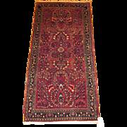 Persian handmade Sarouk circa 1920, 4.11 x 2.5