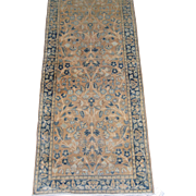 Persian Kerman Lavar Runner , Oriental Rug , S.E. Persia , Kerman province circa 1920's , 14 x 2.5