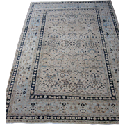 Antique Meshed Dorokhsh Oriental Rug Carpet , Khorassan , Northeast Persia circa 1910 , 10.5 x 7.4