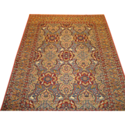 Antique Persian hand made Finely Knotted Dabir Kashan,Circa 1910, 11.9 x 8.5