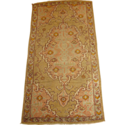 Antique Authentic Turkish Oushak ,Late 19th Century, 5.11 x 3.1