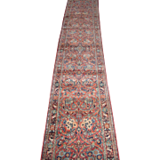 Persian Sarouk Runner Oriental Rug , West Central Persia , circa 1920 , 15.6 x 2.6