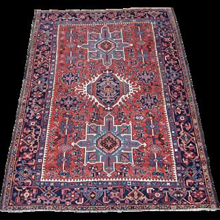 Karadja Scatter Oriental Rug , Heriz District , NW Persia 1920's , 6.6 x 4.10