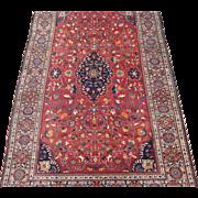 Antique Persian Sarouk Ferahan Oriental Rug circa 1900 , 6.7 x 4.3