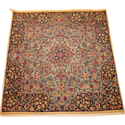 Antique Persian Atiyeh Kerman,Square Size, 3.11 x 3.10