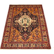 Antique Bakhtiari Rug , Chahar Mahal District , West Central Persia , Early 20th Century , 6.7 x 5.2