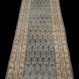 Malayer Runner Oriental Rug , Western Persia  1920's , 16.11 x 3.3