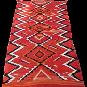 "Navajo "" Eye Dazzler "" Rug circa  1900 , 9.1 x 5.4"