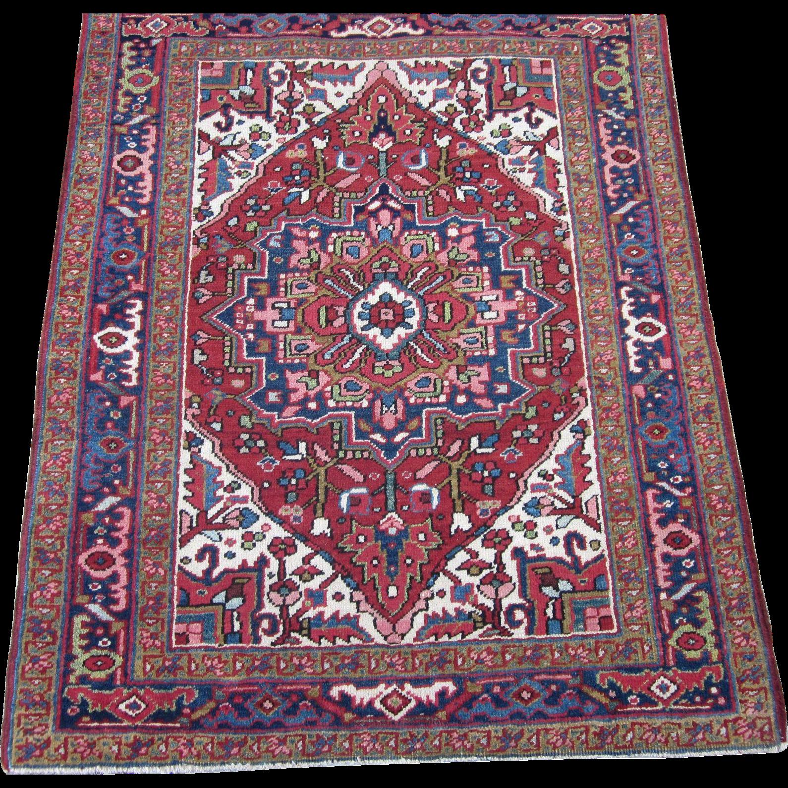 Persian Handmade Heriz Oriental Rug,Azerbaijan Province