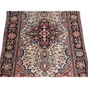 Antique Sarouk Ferahan Oriental Rug , West Central Persia circa 1900 , 5 x 3.3