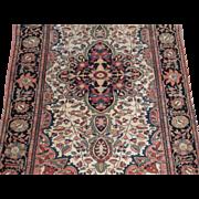 Antique Sarouk Ferahan Oriental Rug , West Central Persia circa 1900 , 5 x 3.3