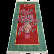 Vintage Art Deco Nichols Chinese Oriental Rug , Late  1930's , 4.11 x 2.6
