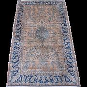 Persian handmade Kerman Oriental Rug , Kerman province , Southeast Persia circa 1920 , 6.8 x 4