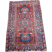 Antique Heriz Oriental Rug , Azerbaijan Province , Northwest Persia , Early 20th Century , 4.3 x 2.9