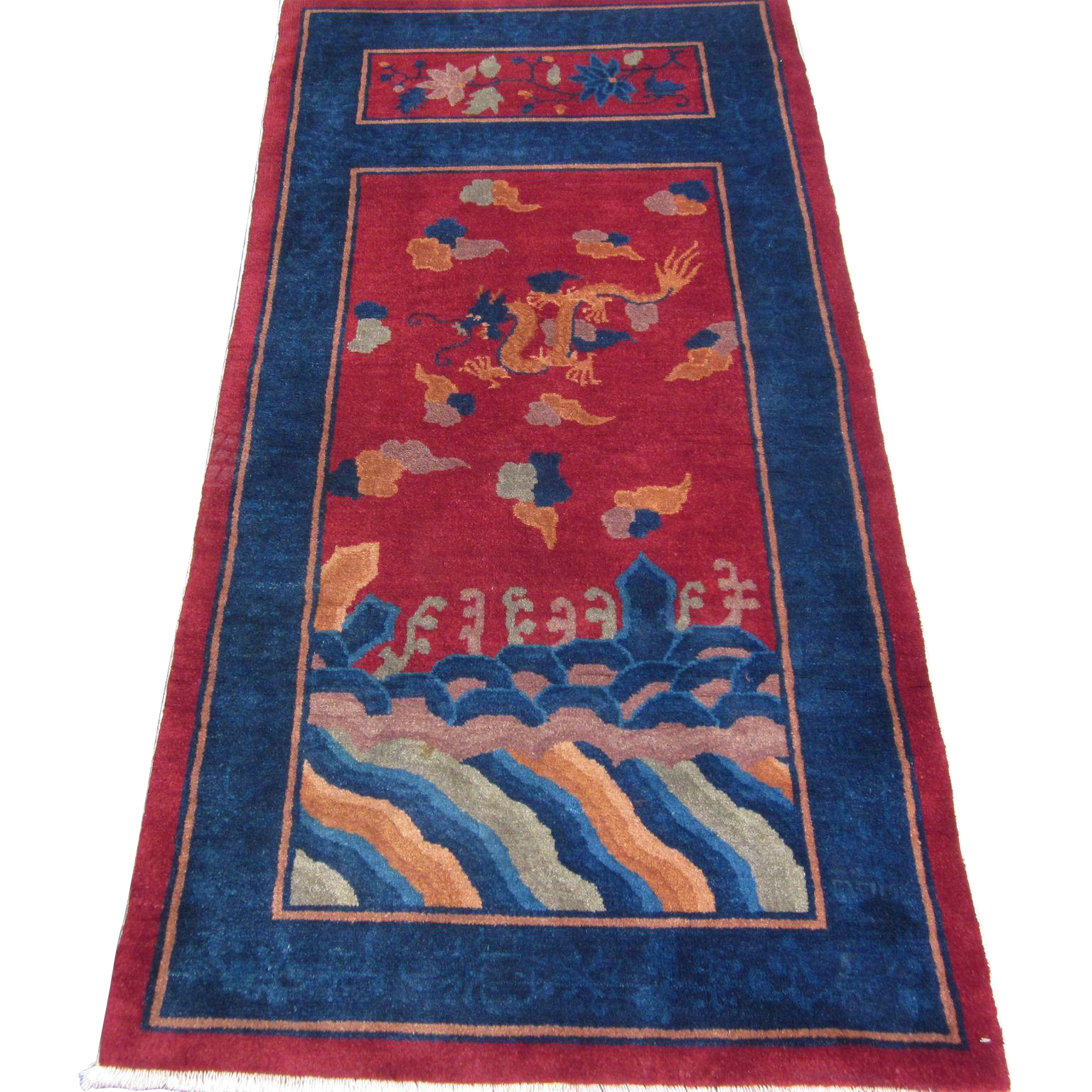 Chinese Art Deco Oriental Rug Northeast China 1920 S 5