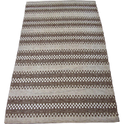 Swedish Flatwoven Rug circa 1930 to 1950 , 6.7 x 4