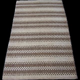 Swedish Flatwoven Rug circa 1930 to 1950 , 6.7 x 4