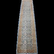 Tabriz Narrow Runner Oriental Rug , NW Persia circa 1925 , 10.9 x 2.3