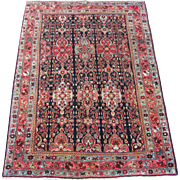 Small Bidjar Oriental Rug , Kurdistan , NW Persia , Early 20th Century , 5.3 x 3.9