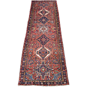 Karadja Small Gallery Rug , Heriz District , NW Persia circa 1930 . 11.2 x 3.9