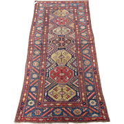 Antique Kurdish Long Rug , Kurdistan , West Persia , Last Quarter 19th Century , 7.9 x 3.6