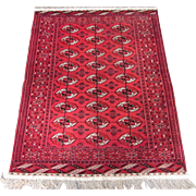 Persian Tekke Oriental Rug , Khorassan Province , NE Persia , Post WWII  , 5.9 x 4.6
