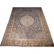 Persian handmade Tabriz Carpet , Oriental Rug , Azerbaijan Province , Northwest Persia circa 1920 , 10.10 x 8.1