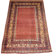 Antique Persian Malayer Oriental Rug circa 1910 , 6.4 x 4.4