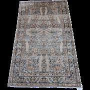 Persian handmade Kerman Oriental Rug circa 1920 , 4.10 x 2.10