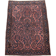 Sarouk Oriental Rug , Arak Province , West Persia circa 1920's , 4.7 x 3.3